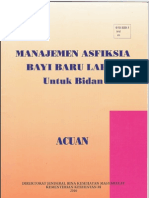 Buku Acuan Manajemen Asfiksia BBL Untuk Bidan