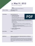 Agenda May 31