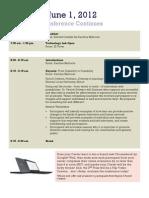 Agenda June 1