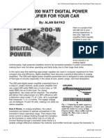 Build a 200W Class D Power Amplifier for Your Car