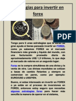 Estrategias Para Invertir en Forex