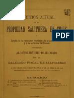 Condición actual de la propiedad salitrera en Chile. Estudio de las cuestiones relativas........ (1892)