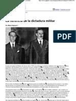 (articulo) Página 12 (2011-03-25) Economía - La herencia de la dictadura militar
