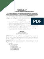 Acuerdo No 015 de Diciembre 30 de 2011 Reformado Por Acuerdo 16