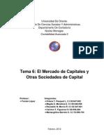 El Mercado de Capitales y Otras Sociedades de Capital