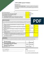 Annual Report Landfill Capacity Worksheets