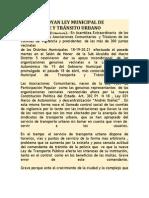 VECINOS APOYAN LEY MUNICIPAL DE TRANSPORTE Y TRÁNSITO URBANO