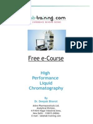 HPLC Free e Book | Chromatography | High Performance Liquid