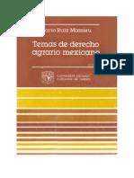 Temas de Derecho Agrario Mexicano