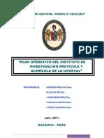 Plan Operativo Del Huerto 2012