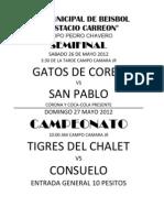 Rol Jornada 4 Torneo Relampago y Liga infantil y juvenil