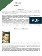 Militarismo en El Salvador