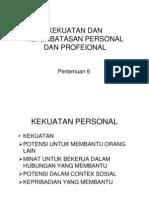 Kekuatan Dan Keterbatasan Personal Dan Profeional [Compatibility Mode]
