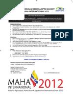 Poster MerekaCipta Maskot MAHA International 2012