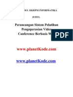 Contoh Skripsi Perancangan Sistem Pelatihan Pen Go Per Asian Video Conference Berbasis Web