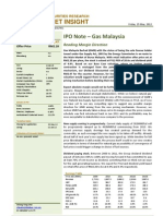 BIMBSec - Gas Malaysia IPO Note - 20120525