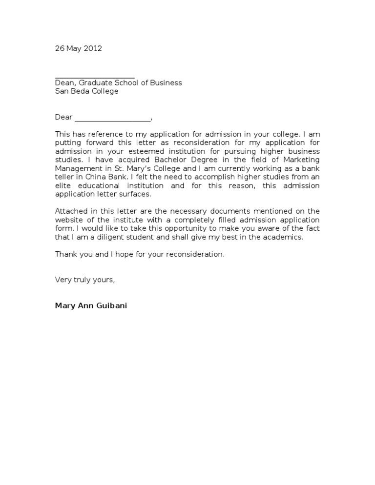 Sample reconsideration letter spiritdancerdesigns Choice Image
