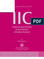 Cultural Specificities in the History of Indian Science - Michel Danino (OP 34 of IIC)