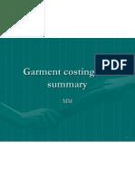 Garment Costing Summary General