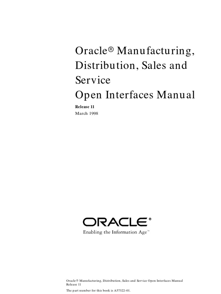 oracle std open interface oracle database html rh es scribd com