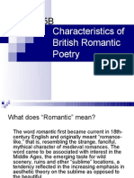 Characteristics of British Romantic Poetry Rev