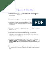 Guia de Ejercicios de Matemáticas primer semestre Ingenieria