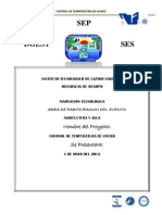Consurso de Innovacion y Tecnologia - Portada de Proyecto