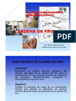 CADENA DE FRIO