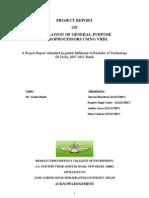 Minor Project Final Report + 16 bit microprocessor using vhdl