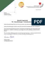 Steuergelder für Innovationsfestival Landtagsanfrage & Antwort