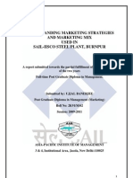 SAIL IISCO Marketing Project
