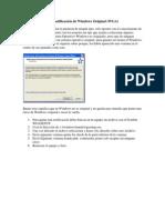 Como desactivar la notificación de Windows Original