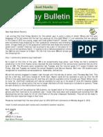 HS Friday Bulletin 05-25