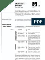 Norma tecnológica de la edificación NTE-IEI sobre instalaciones de electricidad ALUMBRADO INTERIOR
