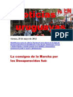 Noticias Uruguayas Viernes 25 de Mayo Del 2012