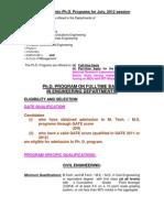 PhD Advt-July 2012