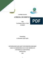 :..Laporan Kasus Atresia Duodenum..: