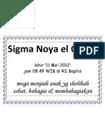 Sigma Noya El Qulub