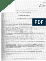 CUESTIONARIO A - Segunda evaluación