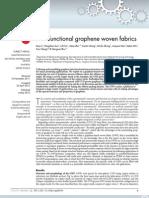 Multi Functional Graphene Woven Fabrics
