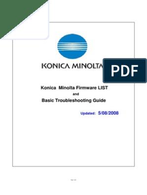 Konica Minolta Firmware List Remote Desktop Services File Transfer Protocol