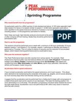 8-Week Sprinting Programme