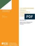 Los Emprendedores Sociales Innovacion Al Servicio Del Cambio Social
