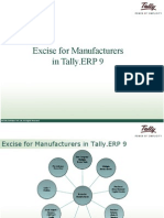 Excise for Manufcturers |  Tally Intergation | Tally Helpdesk |  Tally.ERP 9