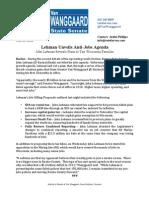 Lehman Unveils Anti-Jobs Agenda