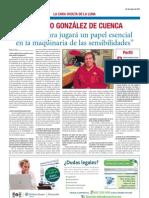 Entrevista del Periódico Escuela al escritor Roberto González de Cuenca. (Publicada el 14-05-2012)