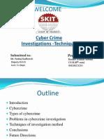 Ppt on Investigation Method of Cyber Crime
