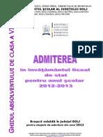 Brosura Admitere Liceu Dolj 2012-2013