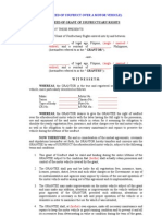 Deed of Usufruct Over a Motor Vehicle