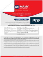 Kotak Gold Fund SID